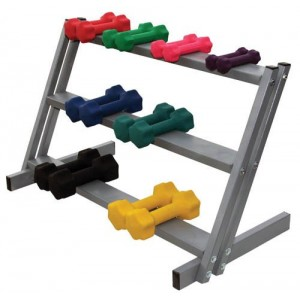 3-Shelf Dumbbell Floor Rack