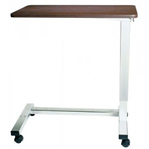 Overbed Table Automatic w/XL Top & Chrome H Base