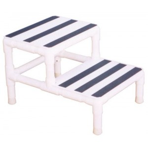 Step Stool Single w/1 Handrail PVC (MRI)