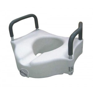 Raised Toilet Seat w/ Lock & Padded Removable Arms