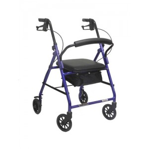 Aluminum Rollator w/Loop Brake Burgundy (PMI) 4-Wheel