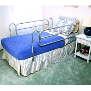 Bed Rails (Carex) (pr) Home Style/Chrome-plated Steel