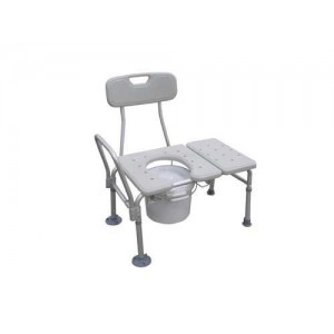 Transfer Bench & Commode Combination w/Plastic Seat(KD)