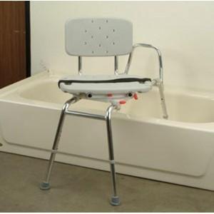 Snap-N-Save Sliding Transfer Bench Swivel Seat/Back Regular