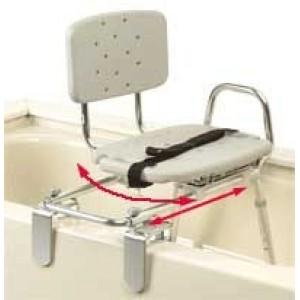 Transfer Bench Tub Mt. Swivel Molded Seat/Back X-Short