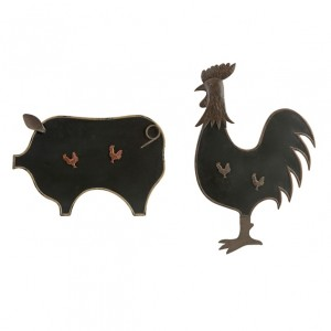 Farmyard Blackboard/Magnet Decor - Set of 2