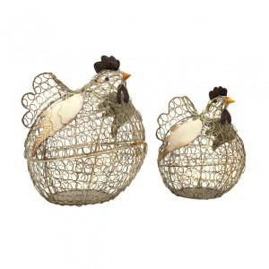 Elmore Wire Chickens - Set of 2