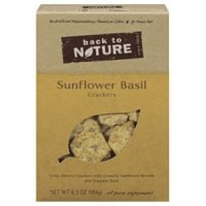 Back To Nature Sunflower & Basil Crackers ( 6x6.5 Oz)