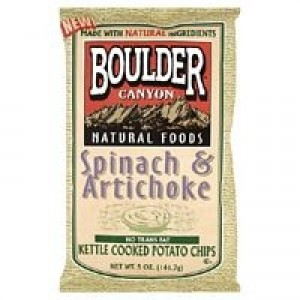 Boulder Canyon Spinach & Artichoke Kettle Chip Gluten Free ( 12x5 Oz)