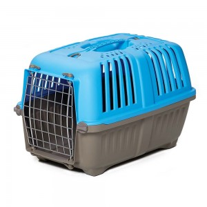 "Midwest Spree Plastic Pet Carrier Blue 21.875"" x 14.25"" x 14.25"""