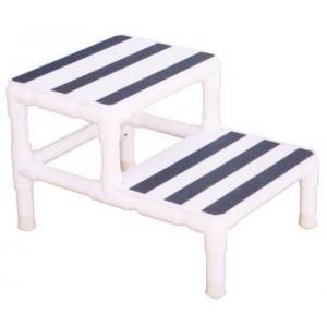 Step Stool Single W 1 Handrail Pvc Mri Daily Care For